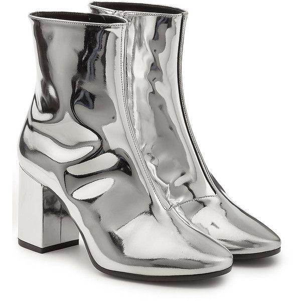 64ef0a43e96 Balenciaga Mirror Metallic Leather Ankle Boots (2