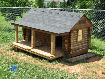 Custom Doghouse Log Cabin Projects To Try Cool Dog Houses Dog
