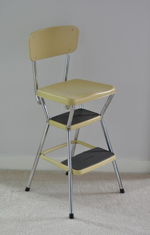 Phenomenal Vintage Cosco Step Stool Yellow Retro By Aligras On Etsy Ocoug Best Dining Table And Chair Ideas Images Ocougorg