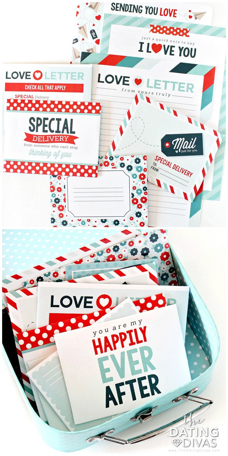 graphic relating to Printable Love Note named Enjoy Letter Package 2.0 The A person-Prevent Do-it-yourself Retail outlet Creating a take pleasure in