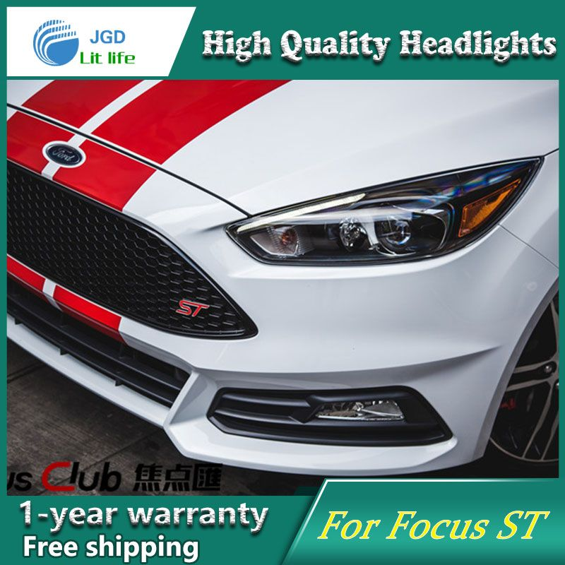 Car Styling Head Lamp Case For Ford Focus St Led Headlights 2017 2016 Drl Daytime Running Light Bi Xenon Hid Accessories