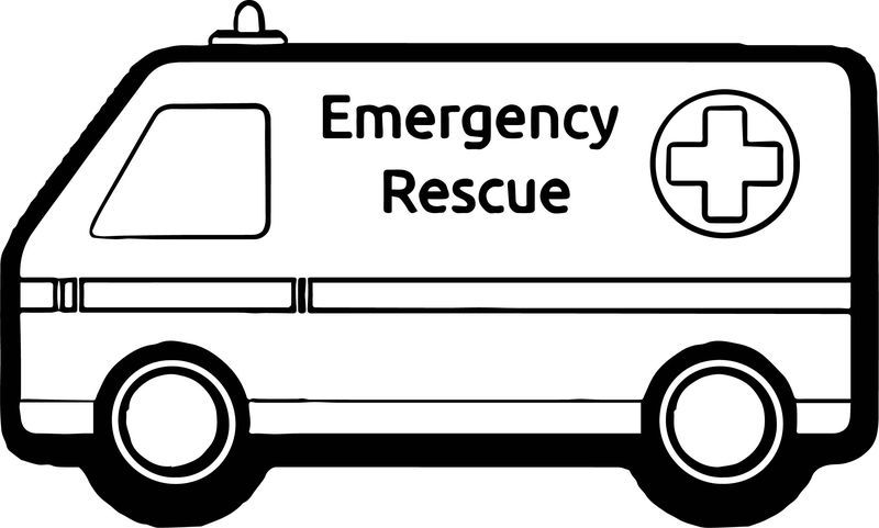 Ambulance Emergency Rescue Car Coloring Page Cars Coloring Pages Train Coloring Pages Truck Coloring Pages