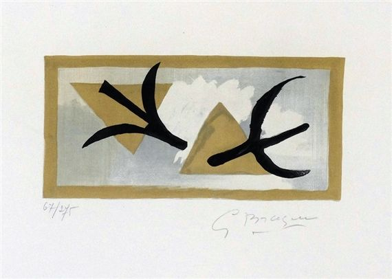 Artwork by Georges Braque, Les martinets, Made of lithograph
