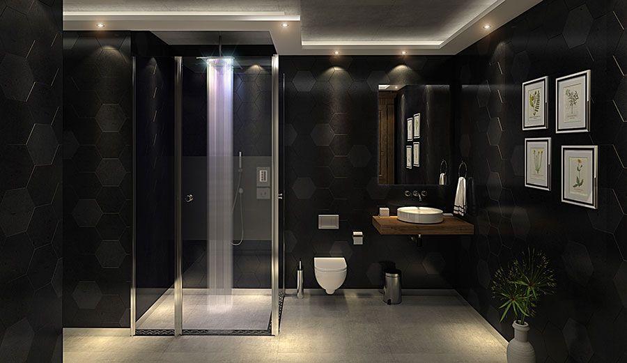 Bagni Neri Moderni 25 Foto Di Progetti Di Design Bagni Neri