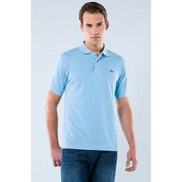 size 40 0c085 9a899 Men Polo Shirt Short Sleeve,Sky Blue   Men Polo Lacoste ...