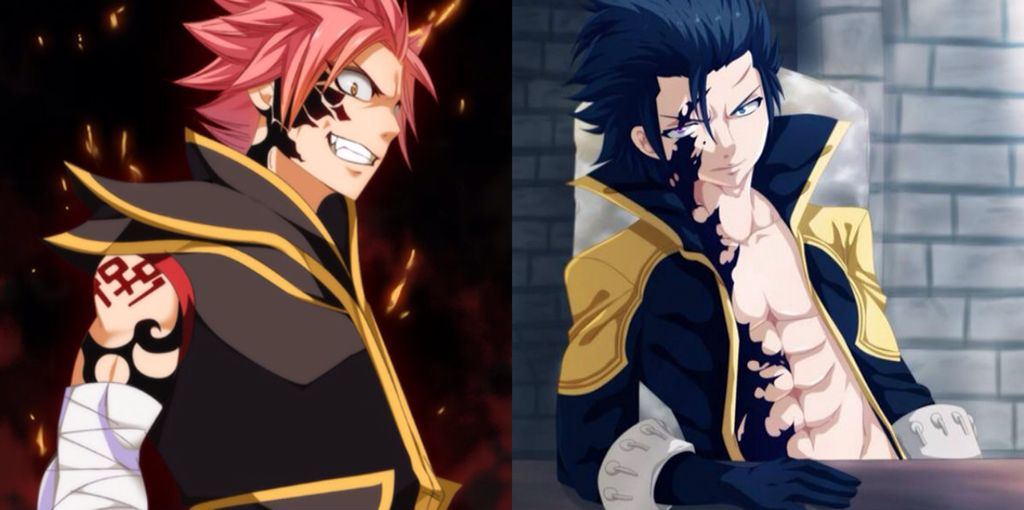 Natsu as Etherious Natsu Dragneel (END) and Gray as Ice