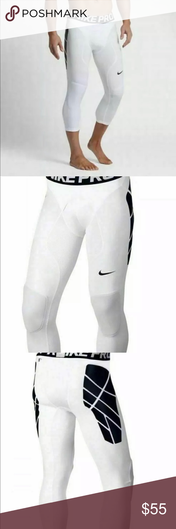 97786f6c09299 Nike Pro HyperStrong Men's Baseball Slider Tights Nike Pro HyperStrong Men's  XXL Baseball Slider Tights White