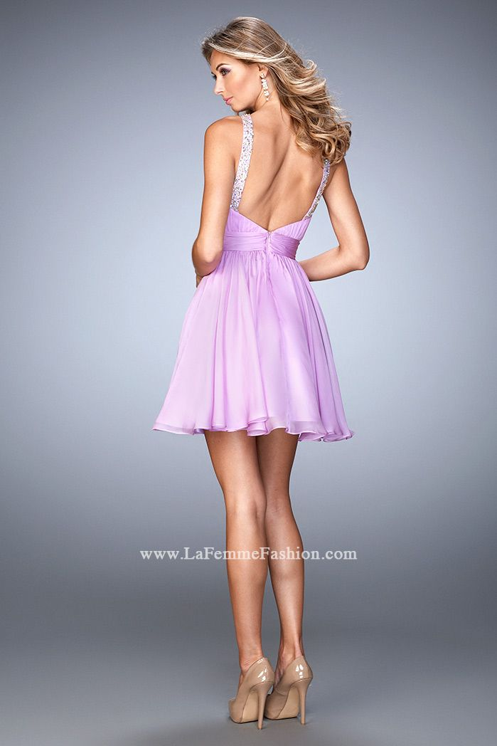 Look chic & flirty in this short La Femme Style 21885 available at ...