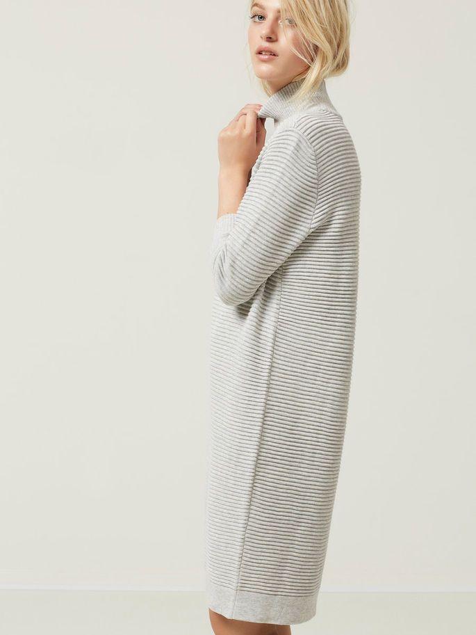 7f61ba50 HIGH NECK - STRIKKET KJOLE, Light Grey Melange, large | Påklædning ...