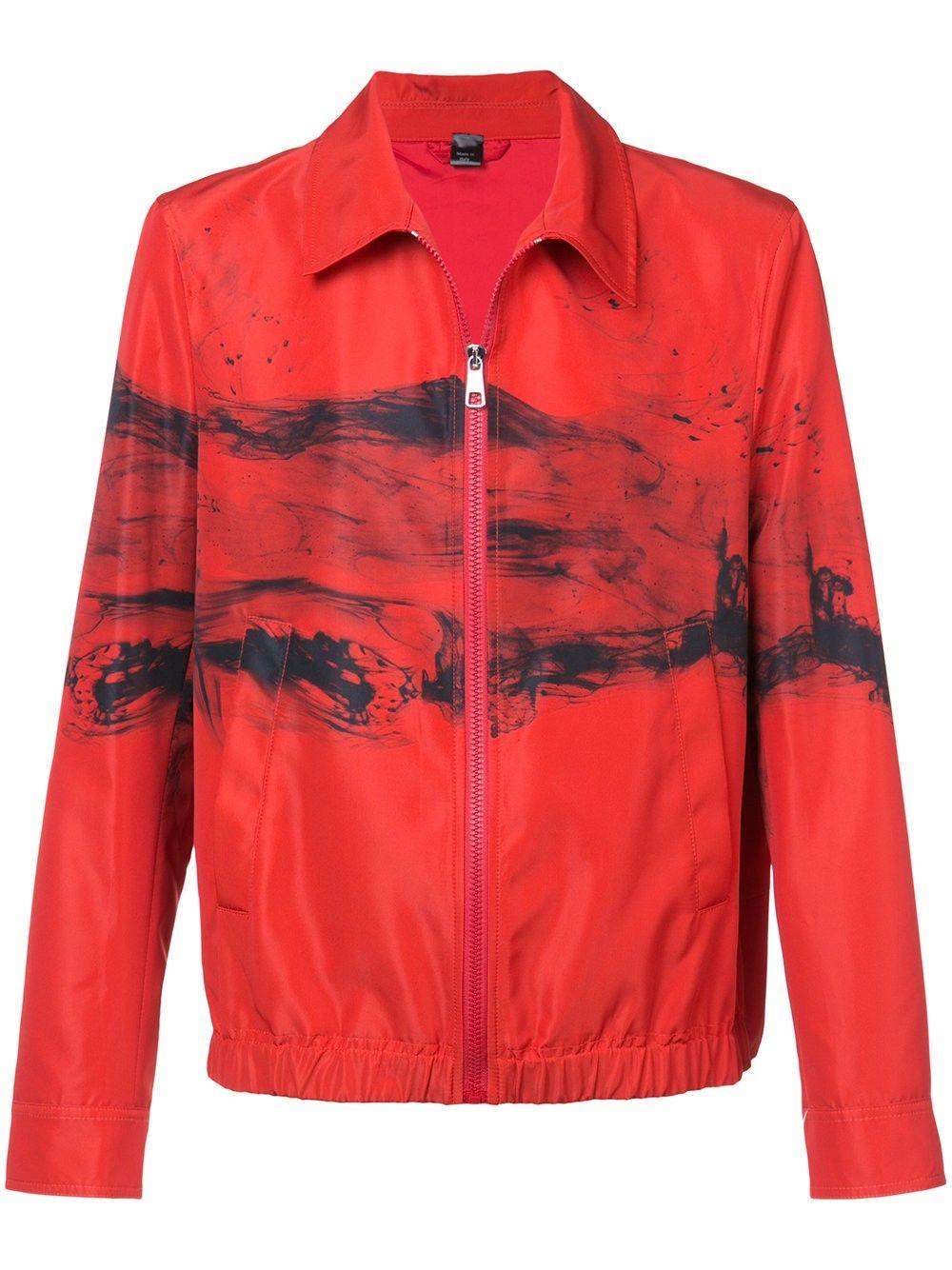 3c81084373f7e Neil Barrett Abstract Print Jacket - Xxxl Red