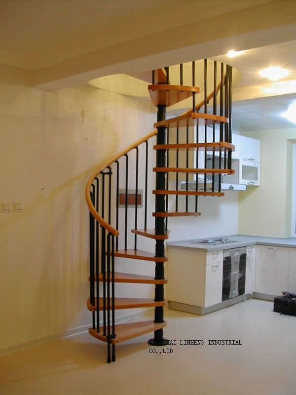 Best Spiral Stair Lh Sc034 Wood Steel Stair With Images 400 x 300
