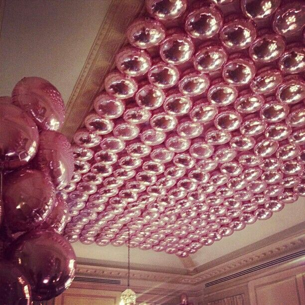 At stella mccartney 39 s autumn 2013 presentation a balloon for Balloon decoration for ceiling