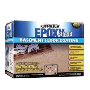 Rust Oleum Epoxy Shield Basement 1 Gal Gray Floor