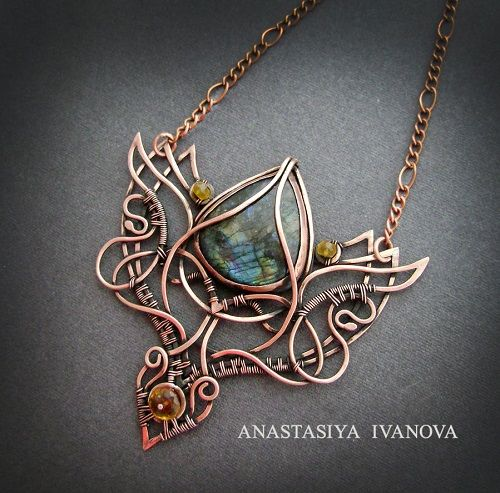 Photo of Copper Wire Wrapped and Metal Work Jewelry by Nastiva Jewelry