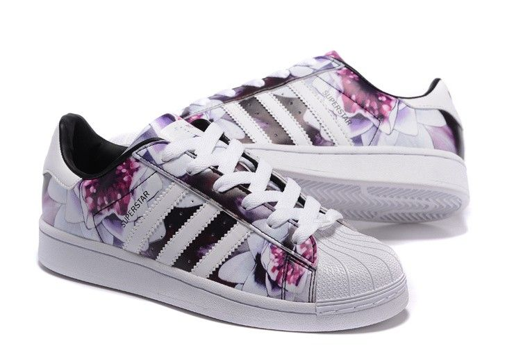 2016 Print Adidas Femme Lotus Originals Chaussures Casual Superstar 4XqrFXC