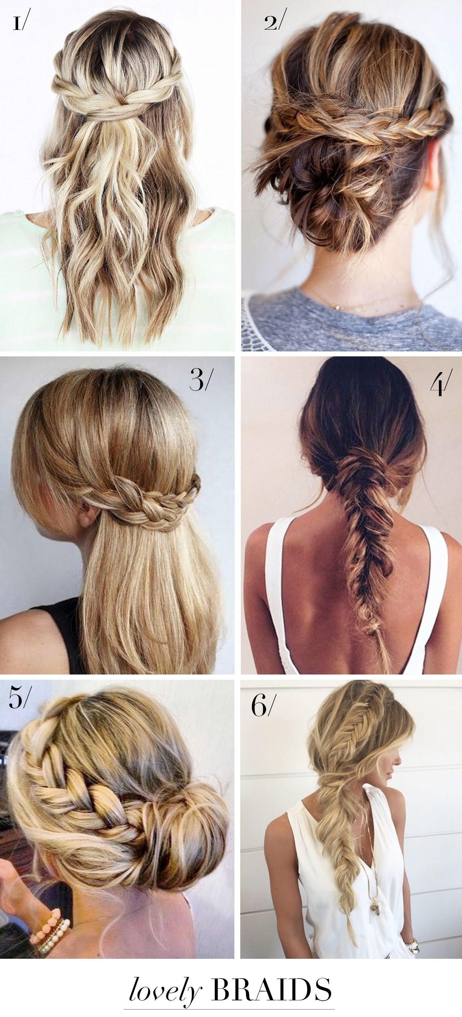 6 lovely braids