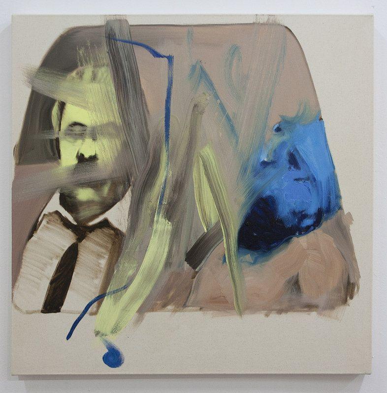 One side-other side II  Artista: Bartosz Beda, óleo sobre lienzo, 77x77cm, 2014  Artist: Bartosz Beda, oil on canvas, 77x77cm, 2014 (300dpi)  #art #arte #contemporaryartwork #pintura #paint #bac #dibujo #drawing