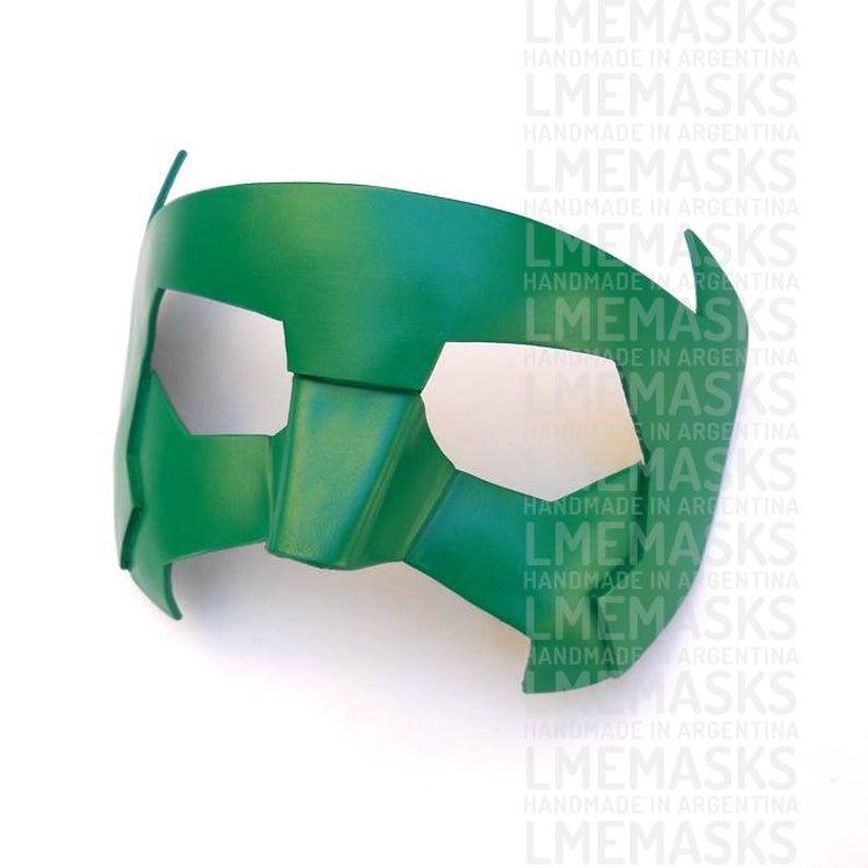 Green Lantern Mask Kyle Rayner New Guardians Leather Masks New Etsy