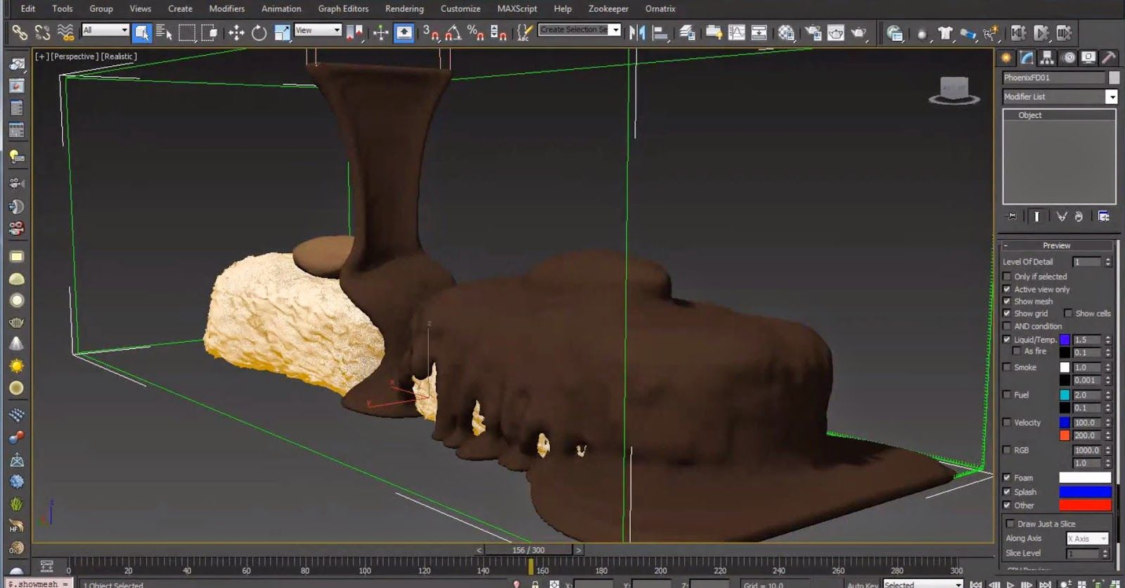 Phoenix FD for 3ds Max tutorial: Creating Chocolate   CG