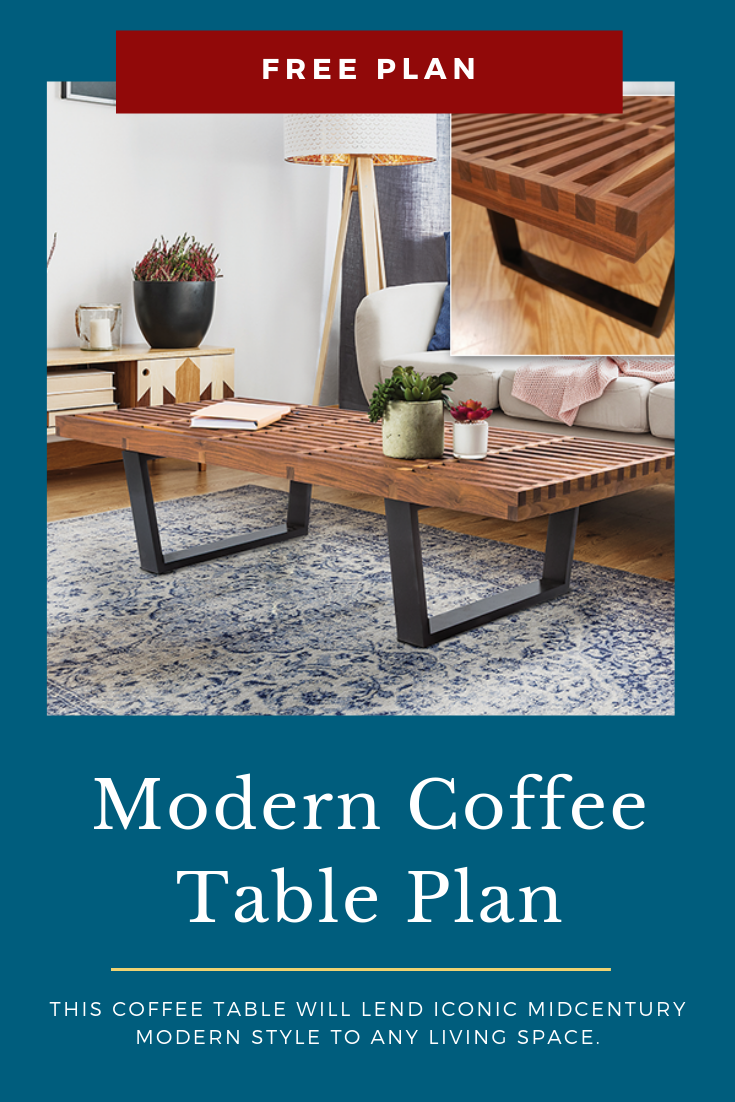 Modern Coffee Table Plan How To Build A Modern Coffee Table Inspired By The Classic Mid Century Modern Coffee Table Plans Coffee Table Diy Coffee Table Plans [ 1102 x 735 Pixel ]