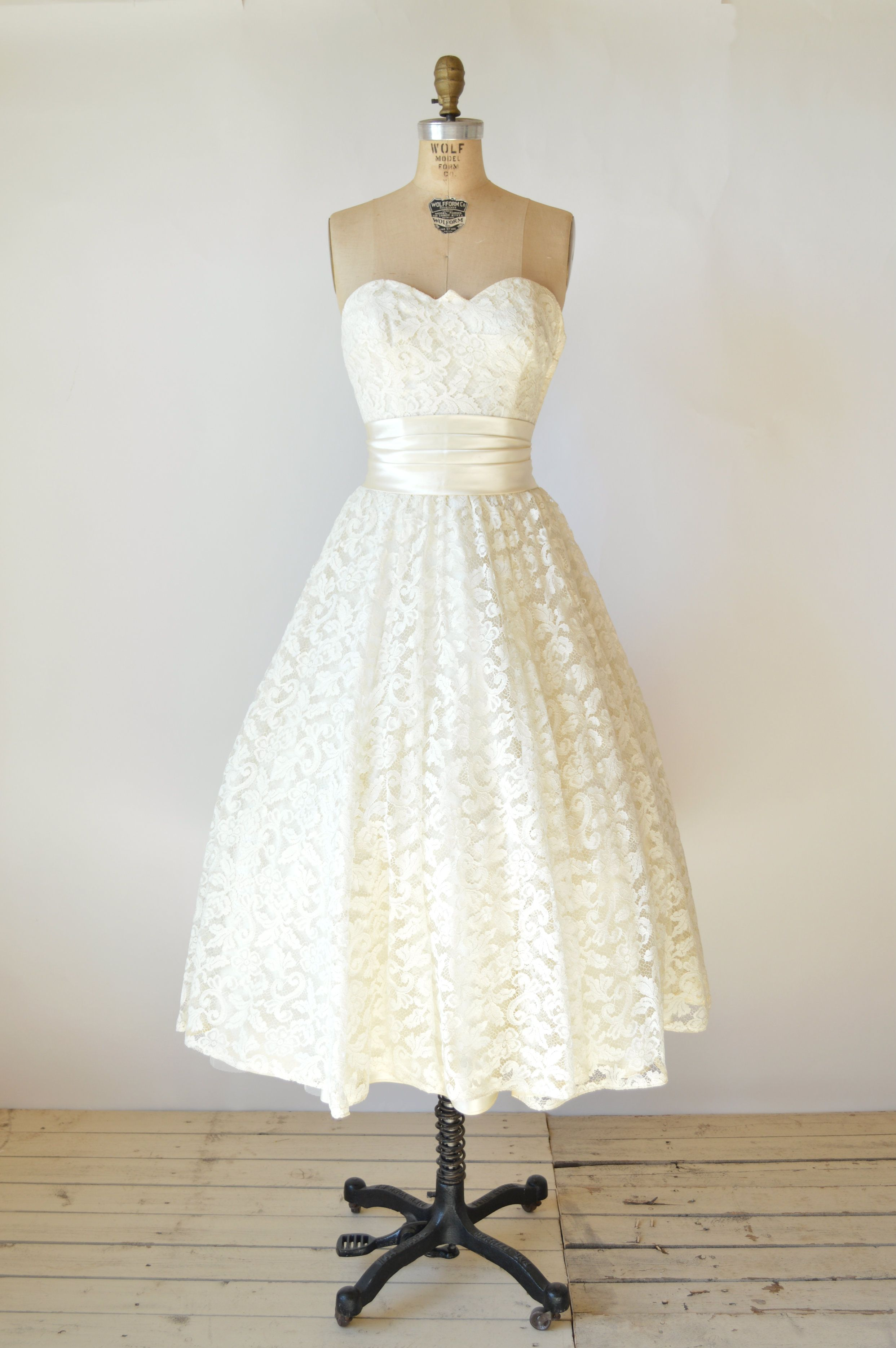 1950s Tea Length Wedding Dress Tea length wedding dress