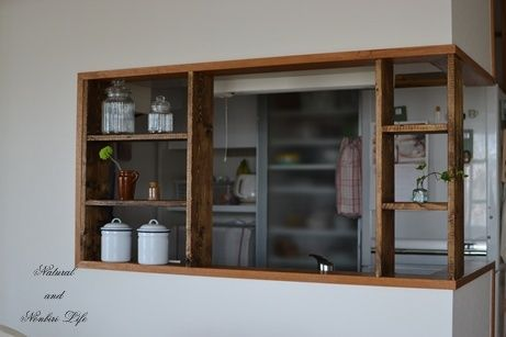 Diy キッチンカウンターに棚を インテリア 収納 キッチンカウンター キッチンデザイン