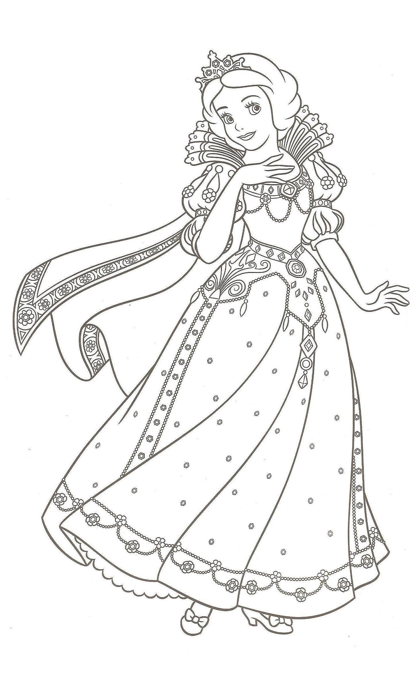 Coloriage A Imprimer Blanche Neige Coloriage Blanche Neige Coloriage  Blanche Neig… | Disney princess coloring pages, Disney princess colors, Princess  coloring pages