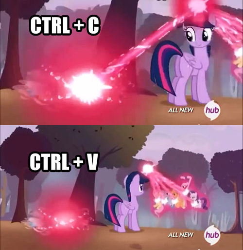 Twilight Learned The Spell Copy Paste Mlp Funny Mlp My Little Pony Mlp Twilight