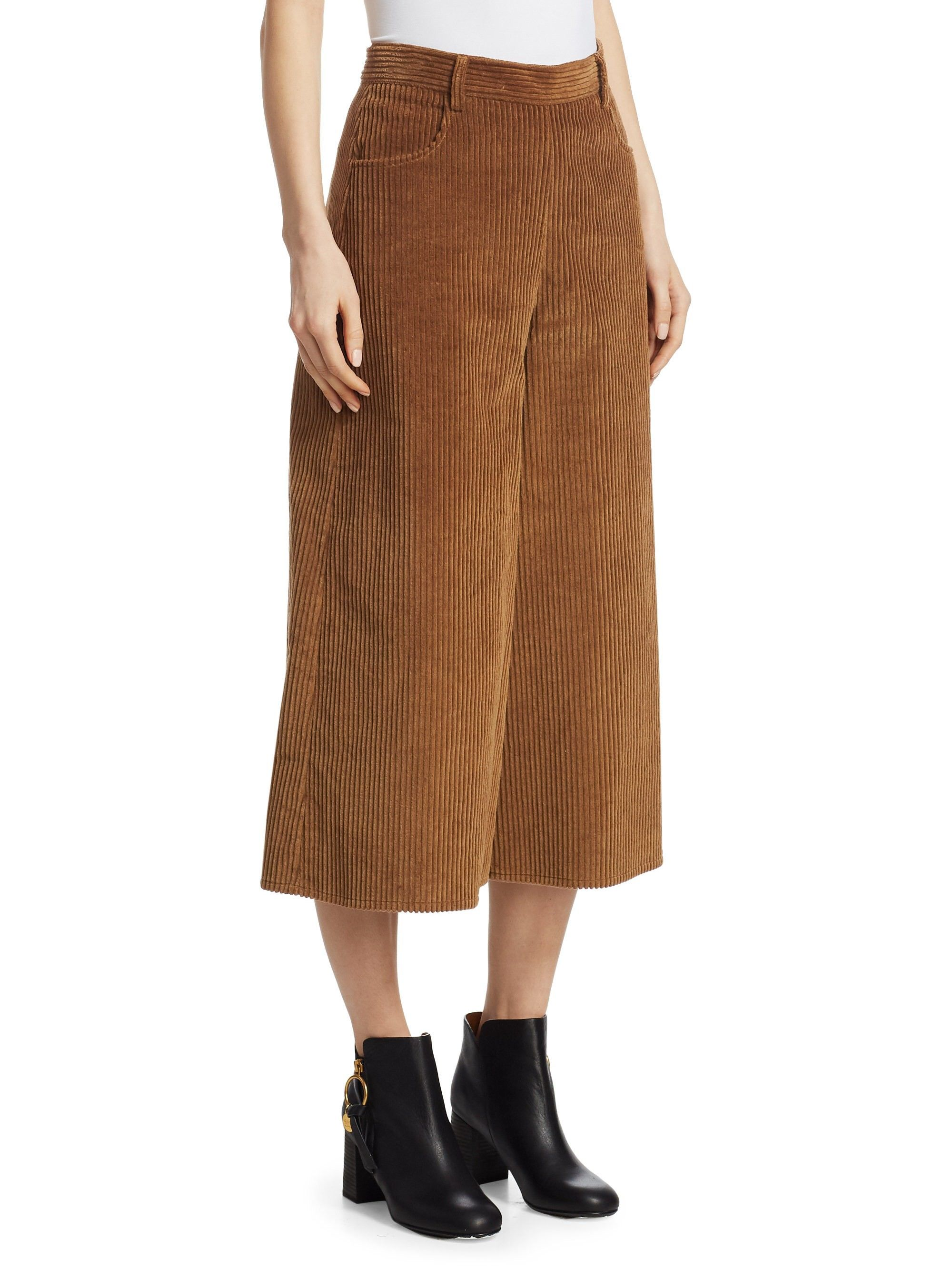 34b55ce91d See By Chloé Corduroy Culottes - Mustard Brown 38 (6)   Outfits I ...