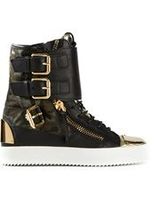 Giuseppe Zanotti Design - metallic hi-top trainers
