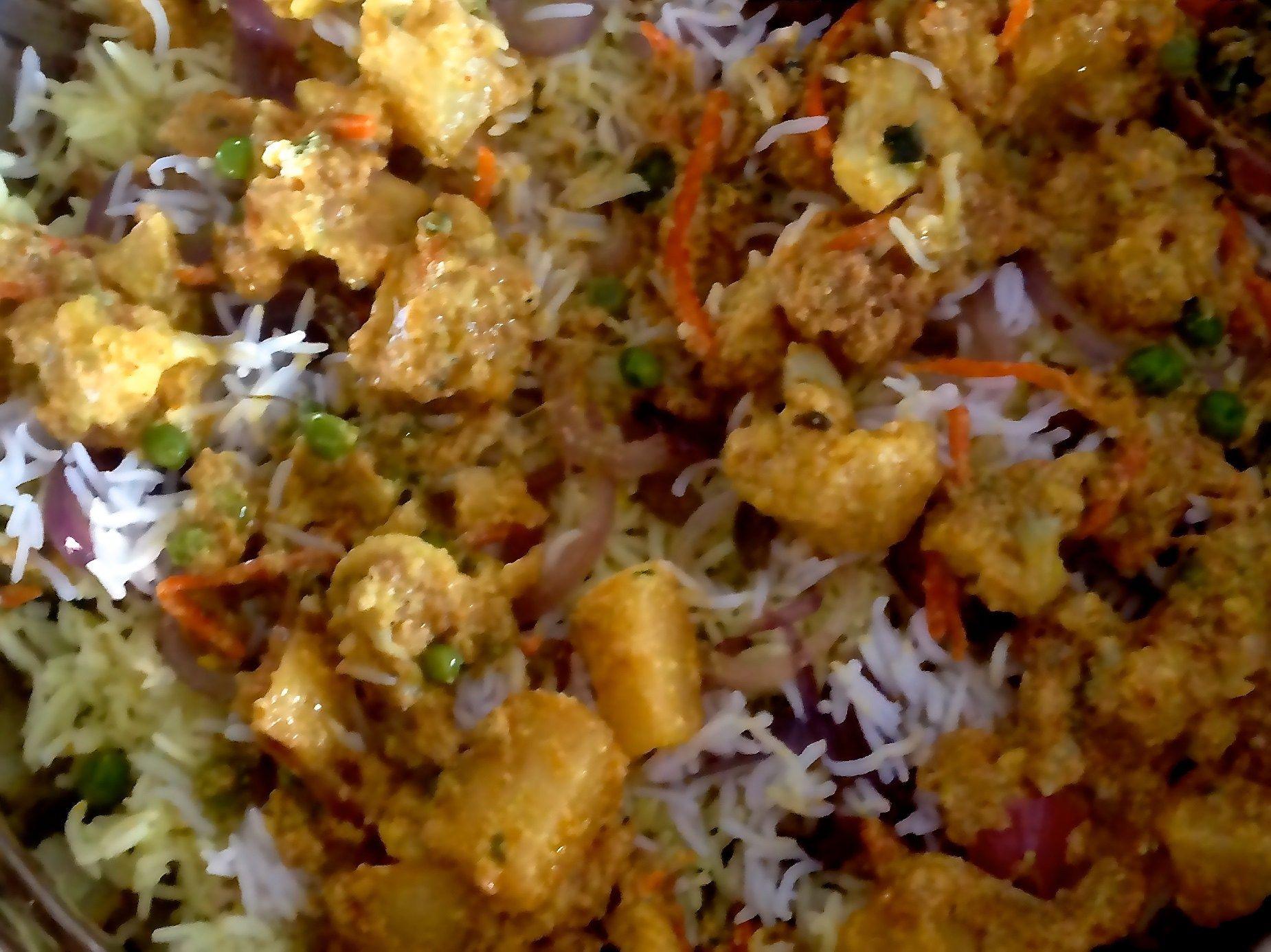 Vegetarian Kabuli Pulao Layered Rice
