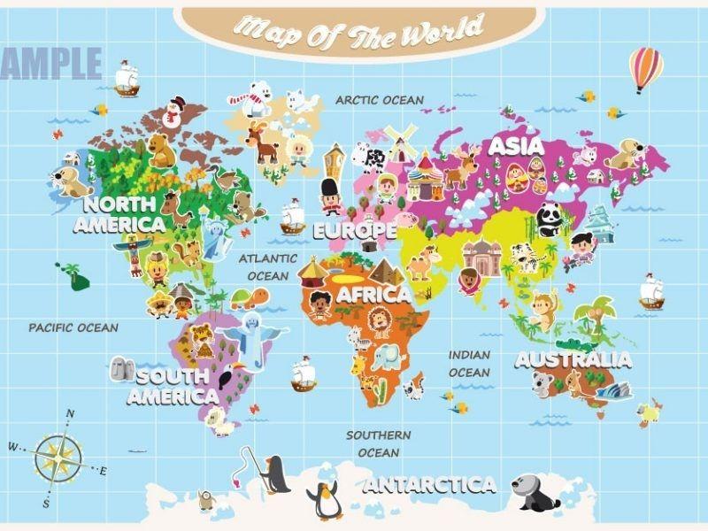 Tourist Map Of World cute world map download map world kids major ...