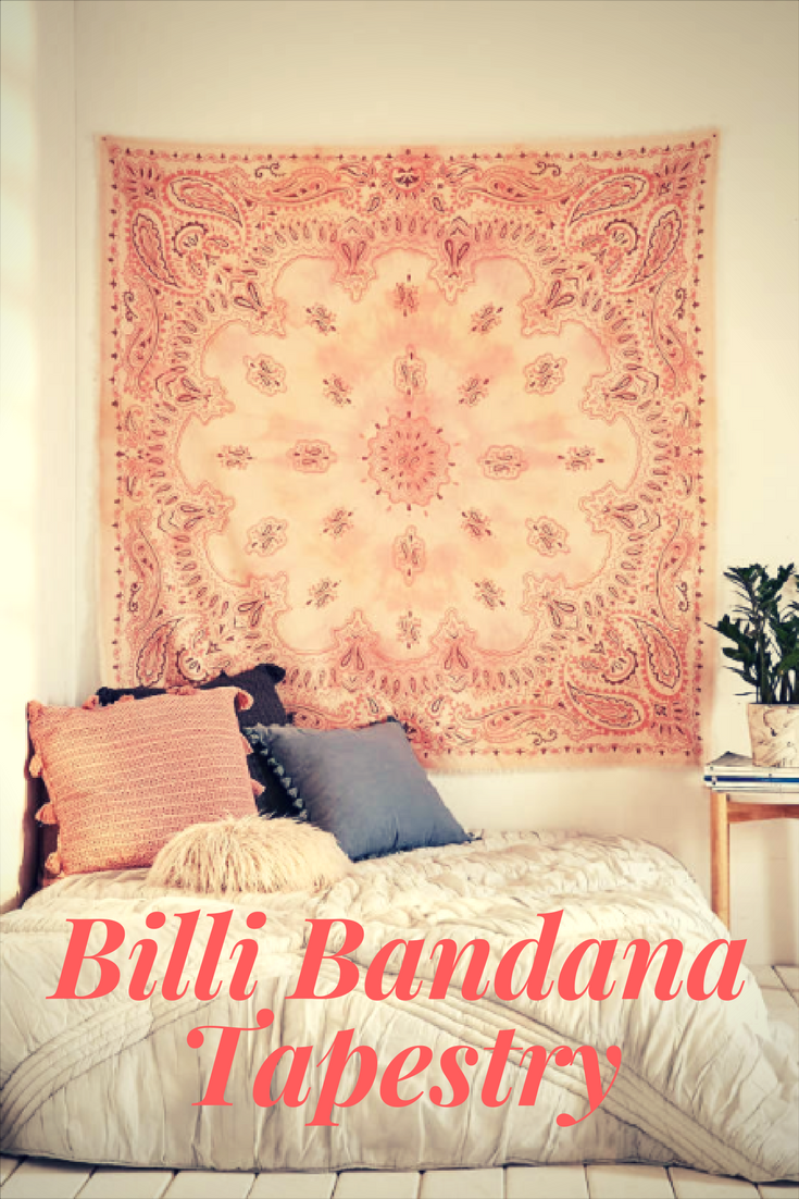 Soft cotton tapestry woven with a bandana print and soft self fringe ...