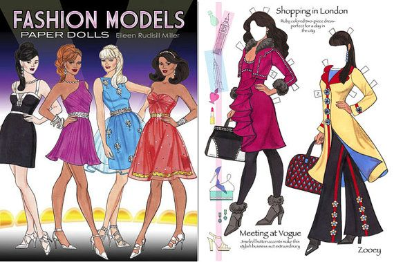 Fashion Models Paper Dolls By Paperdollsbyermiller On Etsy