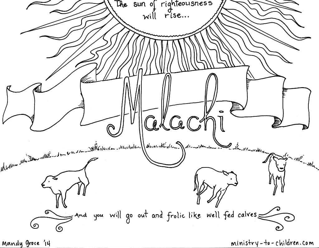 Malachi Bible Coloring Page Bible Coloring Pages Bible Coloring
