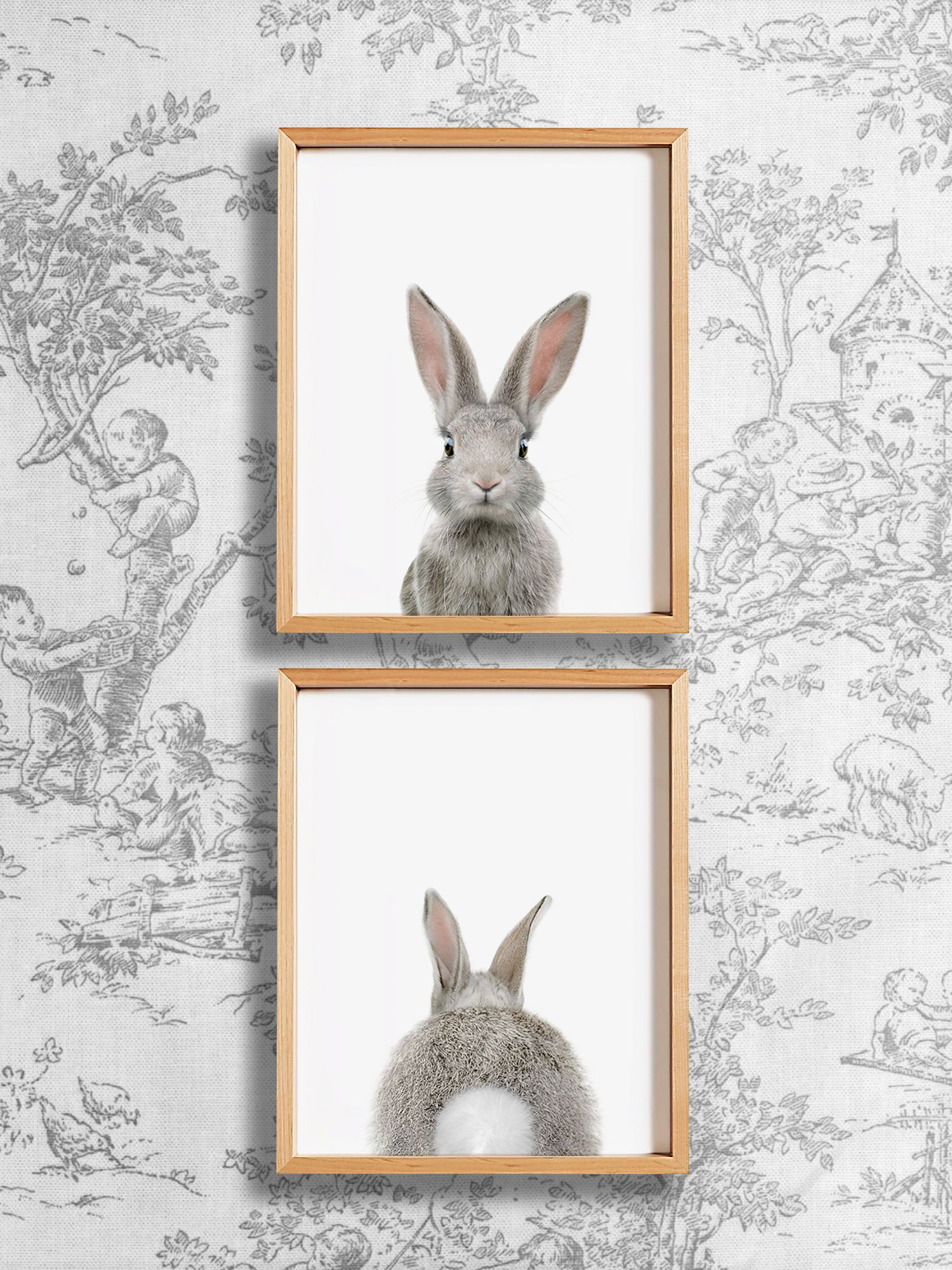 heads or tails bunny rabbit nursery art from the crown prints