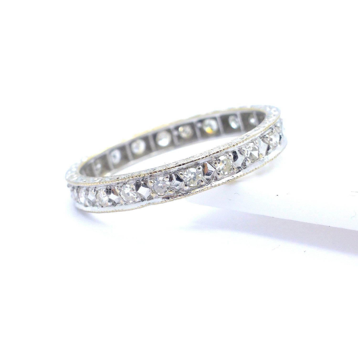 band wedding full pave inc diamond diamonds rings size bands vs