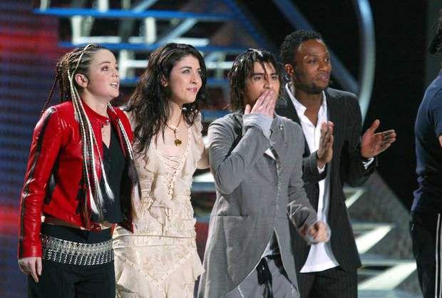 Nolwenn Leroy et ses copains Anne-Laure et Jérémy en 20032003, NRJ Music Awards