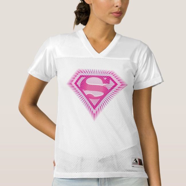 2 Sided Supergirl Logo | Add Your Name Women's Football Jersey | Zazzle.com  | Womens football jersey, Womens football, Football jerseys