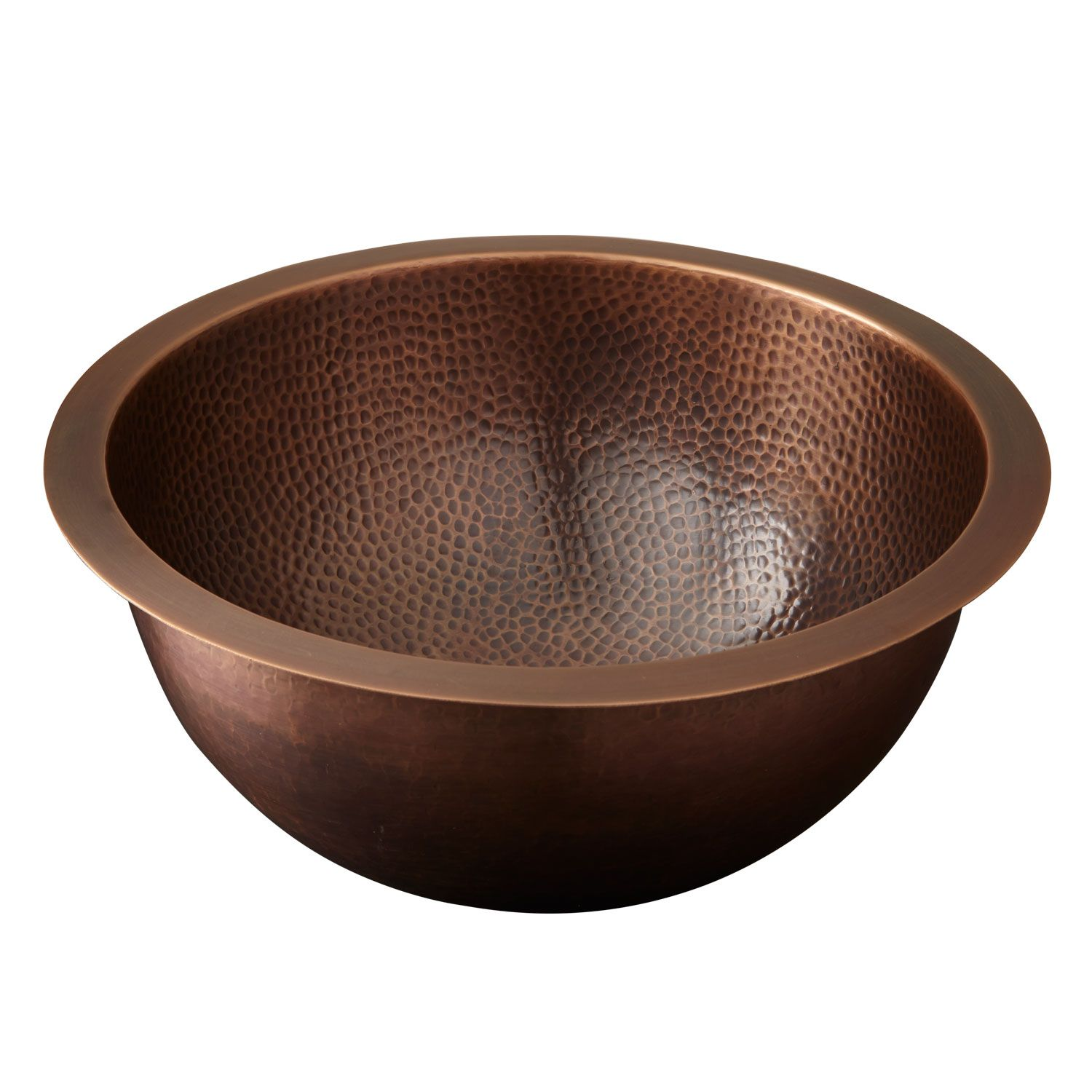 Photo of 16″ Baina Extra-Deep Round Hammered Copper Sink