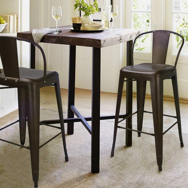 $149.99 - Adeco Bronze Metal Bar Stools With Back (Set of 2) - Free & $149.99 - Adeco Bronze Metal Bar Stools With Back (Set of 2 ... islam-shia.org