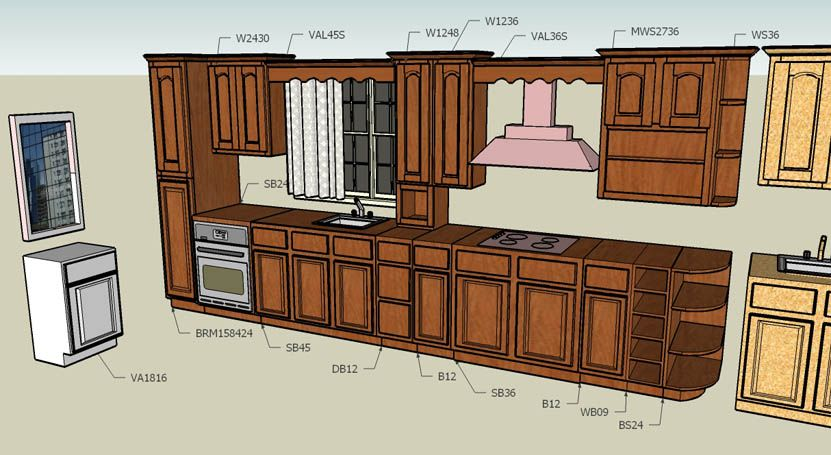 Kitchen Cabinet Layout Design 3D  Hint Of The Structure Amusing How To Design Kitchen Cabinets Layout Decorating Design