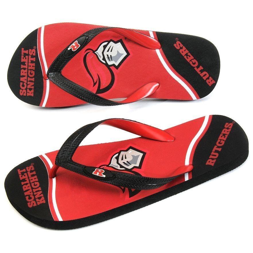 Rutgers Scarlet Knights Zori Flip-Flops Sandals Size 7 8 13 14 Small XL S #Rutgers #FlipFlops