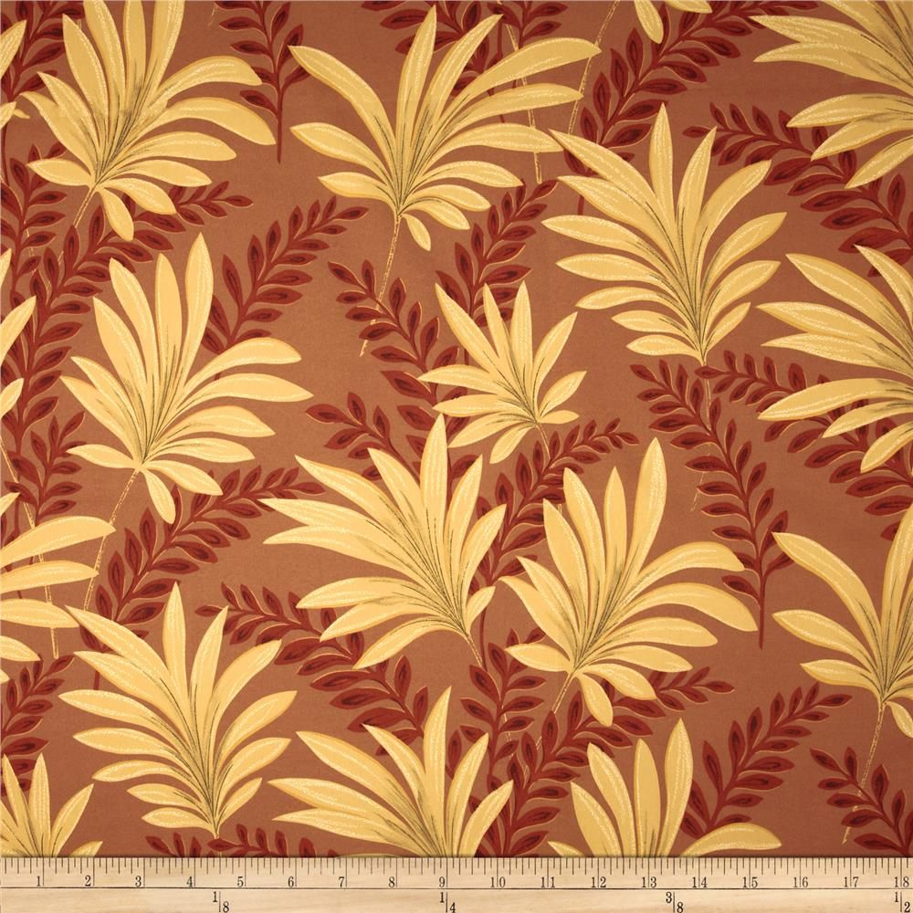 Robert Allen Promo Delray Apricot from @fabricdotcom  Screen printed on very lightweight polyester, this fabric is very versatile and perfect for window treatments (draperies, curtains, valances, and swags), tablecloths, bed skirts, pillow shams and accent pillows. Colors include apricot, dark orange and gold.