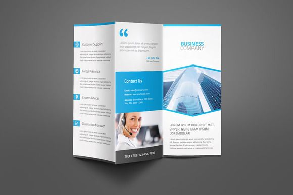 Brochure Templates ~ Corporate Business Trifold Brochure ~ Creative Market  Business Pamphlet Templates