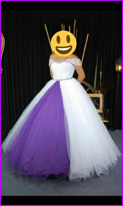 Vestidos de 15 blanco y violeta