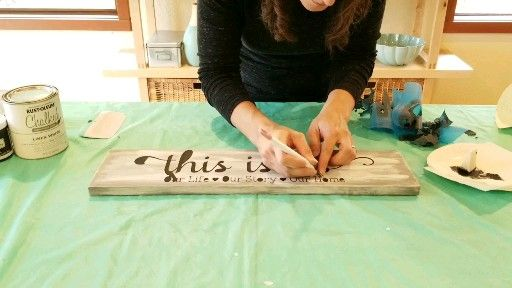 Whitewash Wood Sign Tutorial, how to paint a wood sign home decor