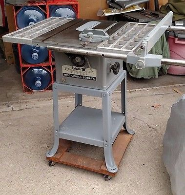 Rockwell Delta Deluxe 9 Inch Table Saw Complete Works