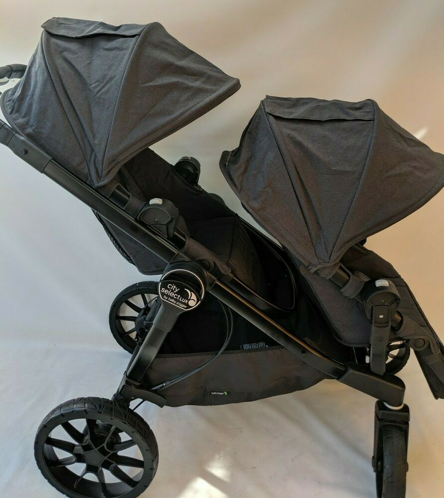 Baby jogger city select LUX double stroller in Granite