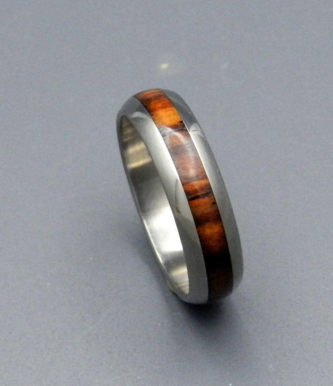 Wedding rings titanium rings wood rings mens rings womens